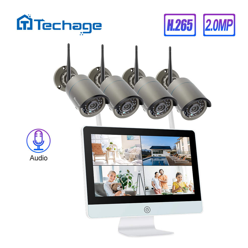 Techage 8CH 1080P Wireless Security Kamera System 12