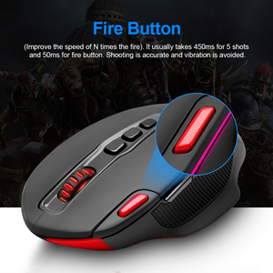 Image 4 - Redragon SHARK M688 Wireless Gaming Mouse programmable 5000 DPI 10 buttons ergonomic for overwatch gamer Mice laptop PC computer