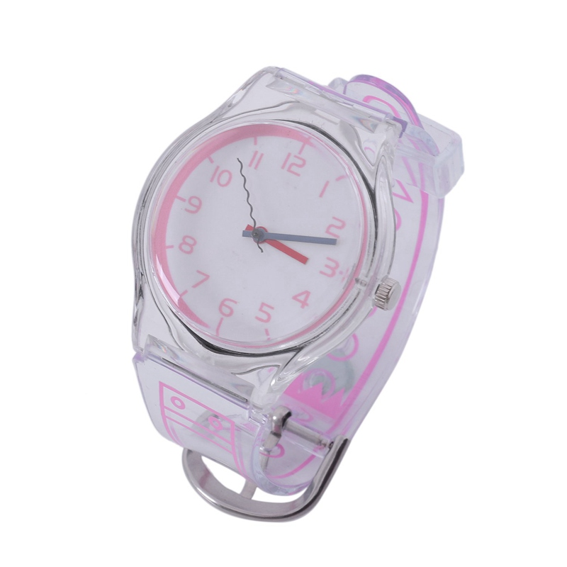 Children'S Watch Jelly Color Fresh Student Transparent Harajuku Style Personality Digital Girls Boys Quartz