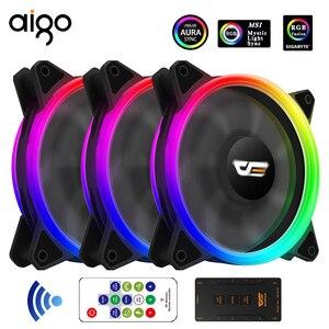 Aigo DR12 Pro Cooler PC Case Fan RGB Fan 120mm Fan Adjust Argb Mute IR AURA SYNC Cooler Master RGB Cooling Computer Fans
