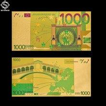 Billete de oro del mundo 1000 coleccionable, dinero de papel, dinero de colección