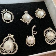 Random Popular Style Women Chain Cute freshwater Pearls Alloy Pendant Love Beautiful Gift Drop Shipping
