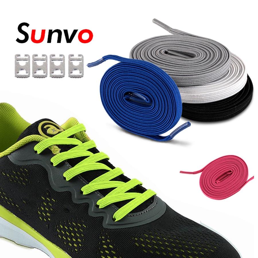 Elastic ShoeLaces Lazy No Tie Shoes Lace For Sneaker Flat Shoe Kids Adult Sports Rubber Shoelace Laces Shoestrings Accessories