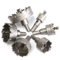 6Pcs HSS Loch Sah Set Hartmetall Spitze TCT Core Bohrer Loch Sah Für Metall Edelstahl Cutter top Qualität