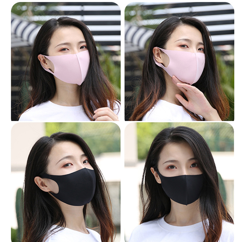 New Ice Silk Cotton Mouth Mask Mouth Masks Breathable Reusable Unisex Washable Face Mask Expedited