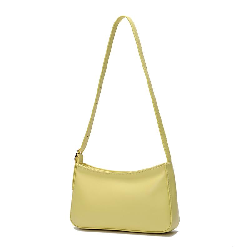 2020 Yellow Women Bag Green Baguette Bag Luxury Brand Handbag Small Female Violet Bag Designer Pillow Bag Ladies Shoulder Bag