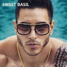 Sweet basil классические негабаритные Солнцезащитные очки Мужские
