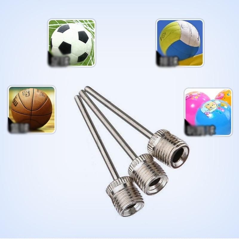 Sport Ball Inflating Pump Needle Basketball Stainless Steel Pin Valve Adaptors