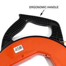 цена на 45M Non-conductive Fiberglass Fish Tape Reel Puller Conduit Ducting Rodder Pulling Wire Cable
