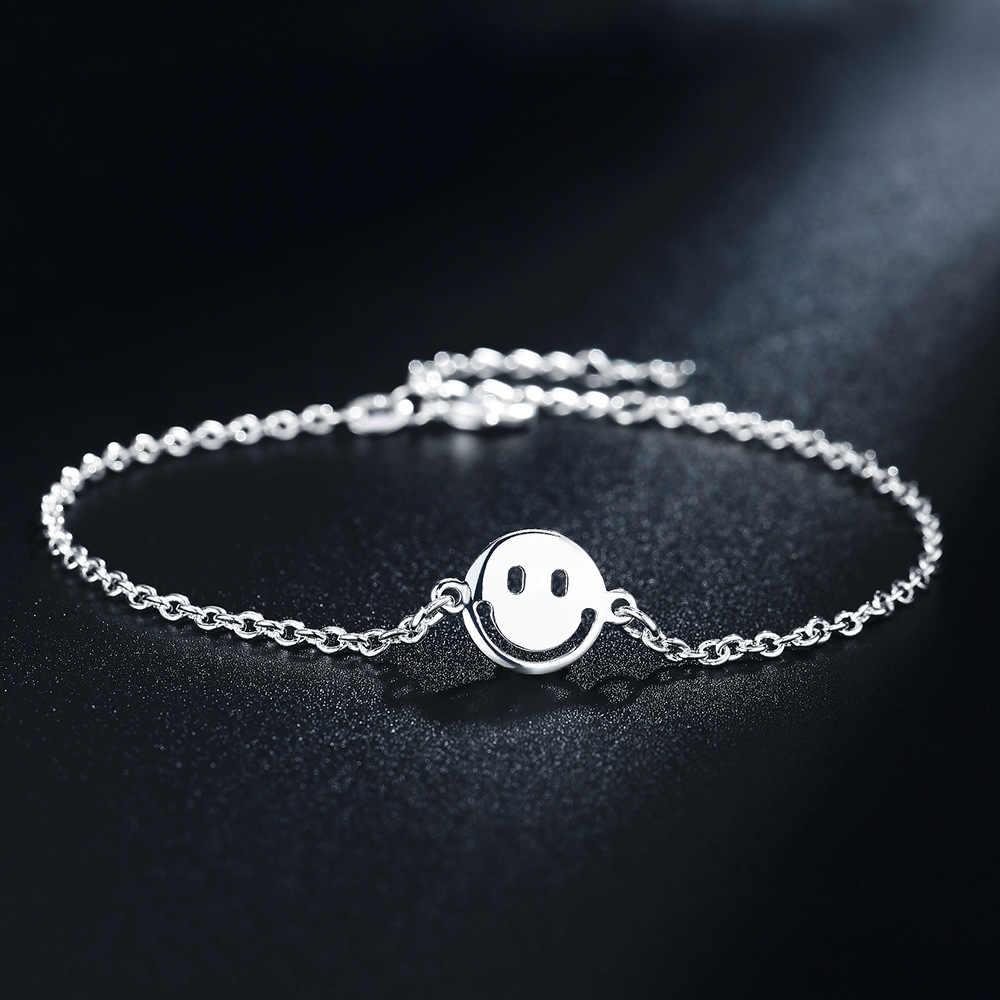 Czeski srebrny kolor Smiley Face kostki bransoletka dla kobiet łańcuszek na nogę okrągły frędzel łańcuszek na kostkę w stylu Vintage stóp biżuteria akcesoria
