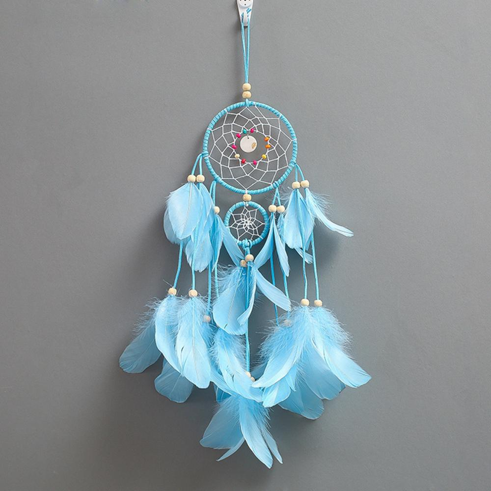 DoreenBeads Mixed Jewelry making kits Handmade Craft Materials Accessories For DIY Making Dream Catcher Blue Feather 55cm, 1 Set