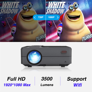 Image 3 - Caiwei C180 Smart Mini Projectorhd  Mobile TV Android Small Beamer Projector In Home Theater Projectors Video outdoor Projectors