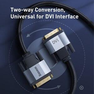 Image 3 - Câble DVI vers DVI Baseus double liaison DVI D mâle vers mâle DVI D 24 + 1 câble vidéo pour projecteur HDTV adaptateur dordinateur câble DVI