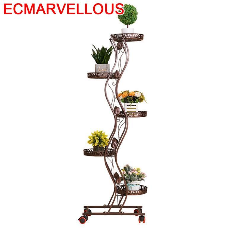 Outdoor Decoration Exterieur Metal Raflar Rek Planten Standaard Varanda Balcon Balkon Stand Iron Flower Shelf Plant Rack