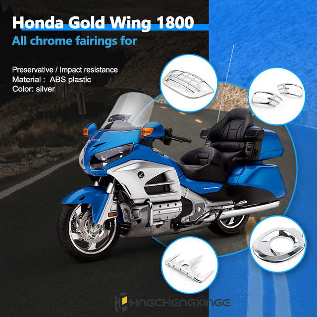 Motorcycle Chrome Fairing For Honda GL1800 Goldwing 1800 gold wing1800 Trim Parts gl1800 2001 2002 2006 2011 Decoration Chrome