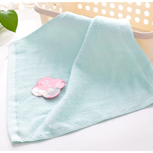 Solid Color Soft Square Face Towel Beach Bath Towels Kitchen Clean Absorbent Towels