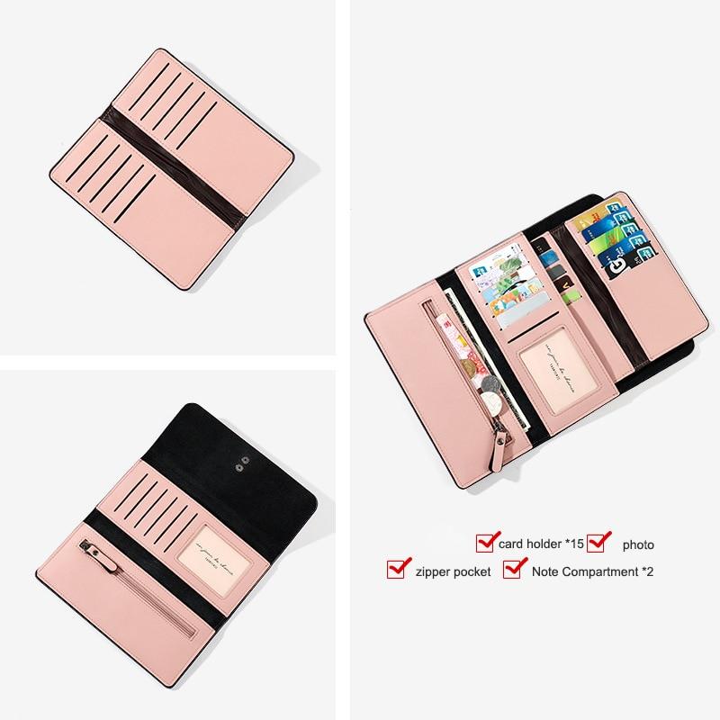 2019 Wallet Female For Coins Cute Wallet Women Long Leather Women Wallets Zipper Purses Portefeuille Wallet Female Purse Clutch