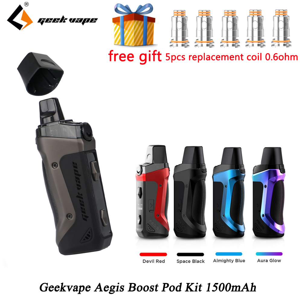 GeekVape Aegis Boost Pod Kit Built In 1500mAh Battery 40W Output 3.7ml Cartridge MTL DTL E-cig Vape Kit Vs Vinci / Drag Nano
