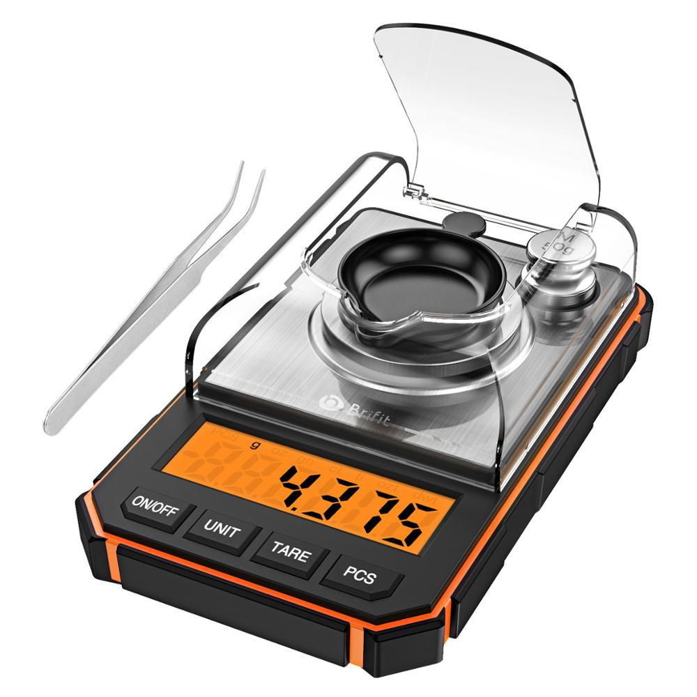 0.001g Digital Scale Portable Mini Scale Precise Graduation Professional Pocket Scale Milligram 50g Calibration Weights Tweezer