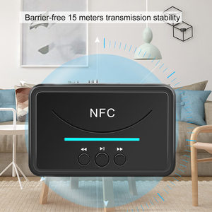 Kebidu NFC 5,0 Bluetooth Empfänger A2DP AUX 3,5mm RCA Jack USB Smart Wiedergabe Stereo Audio Wireless Adapter Für Auto kit Lautsprecher