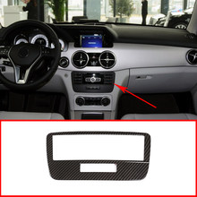 Acessórios interiores do carro para mercedes benz glk x204 2013-2015 abs plástico carro controle central modo de voz botão quadro decorativo