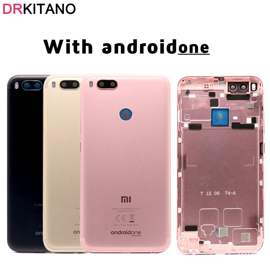 Back Housing for <font><b>Xiaomi</b></font> <font><b>Mi</b></font> A1 Back <font><b>Battery</b></font> <font><b>Cover</b></font> Rear Door Case Chassis For <font><b>Xiaomi</b></font> A1 <font><b>Battery</b></font> <font><b>Cover</b></font> With Androidone Replacement image