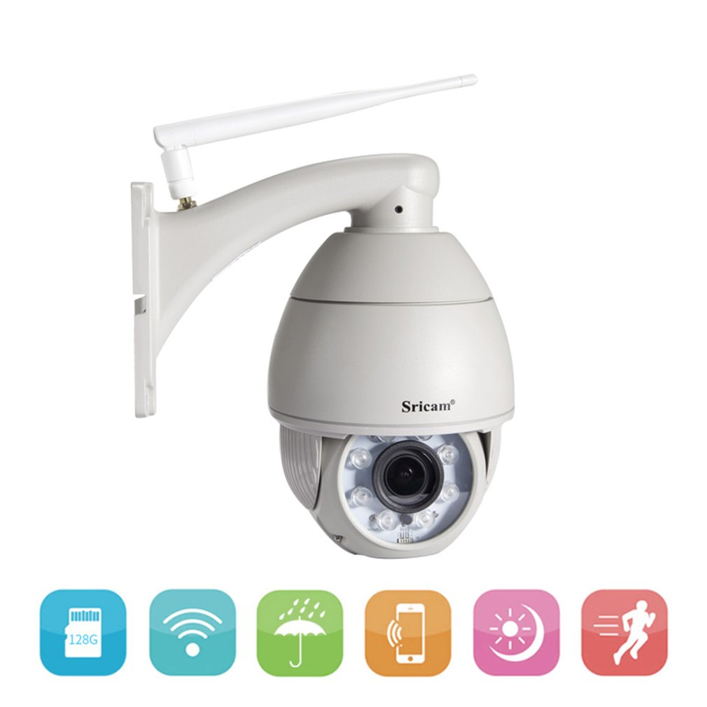 Sricam SP008B 720P WiFi IP Camera Wireless Outdoor Security Surveillance CCTV Remote Monitoring & Alarm Waterproof Camera