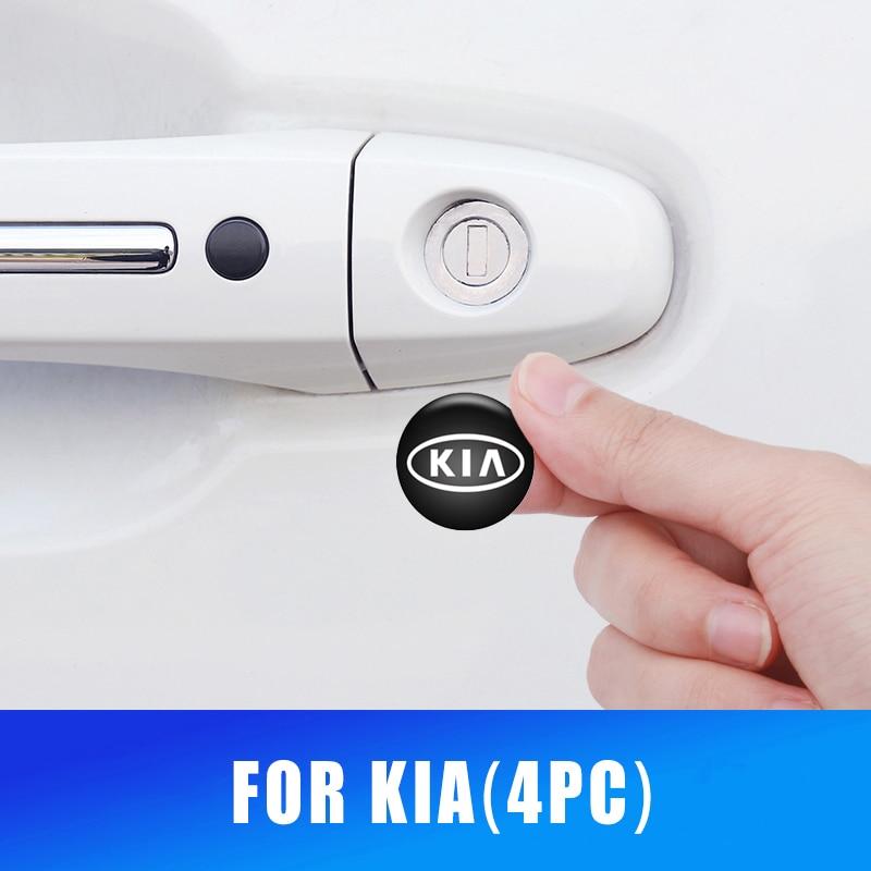 Autocollants de Protection de trou de serrure de porte de voiture 20 MM, autocollants pour Kia Rio K2 Sportage Sorento Cerato accoudoir Soul Picanto Optima
