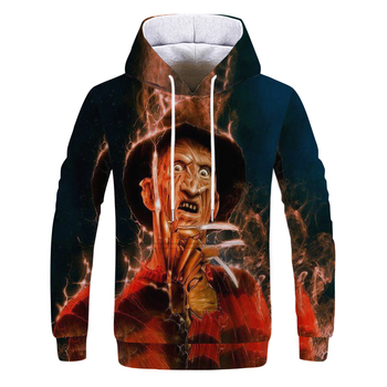 factory Directly Sale on fashion Skull  printed mens hoodies casual street sweatshirts big European sizes