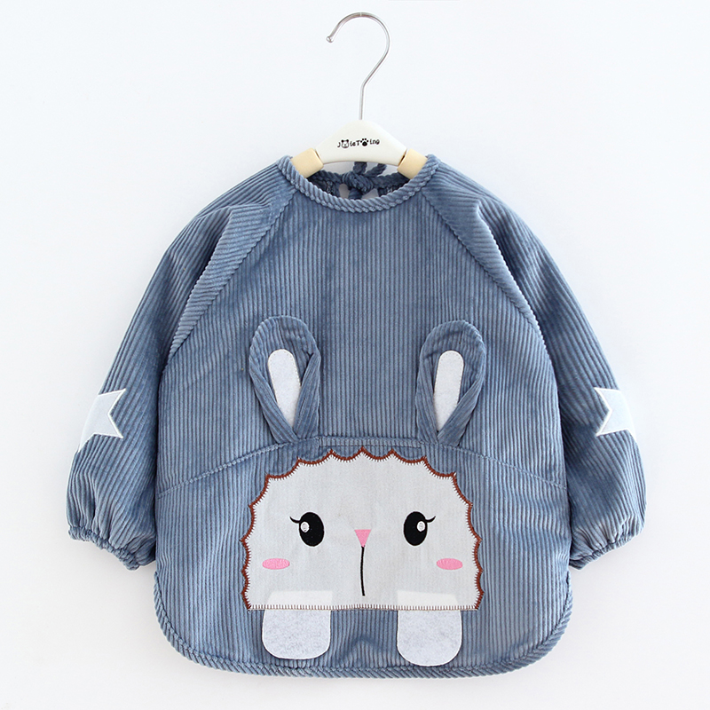 Children's Garment Baby Anti - Dirty Garment Boy Waterproof Dinner Garment Crystal Stripe Anti - Bib Protective Garment
