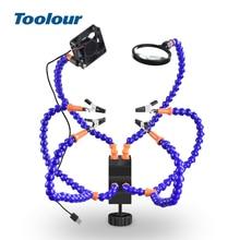 Outils lampe torche USB, loupe ventilateur, bras flexibles, soudage et réparation, outils de soudage