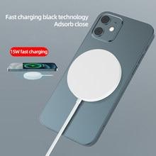 15w rápido magnético carregador sem fio rápido 3.0 para iphone 12pro max mini 11 xs xr x 8 almofada de carregamento usb c pd samsung xiaomi huawei