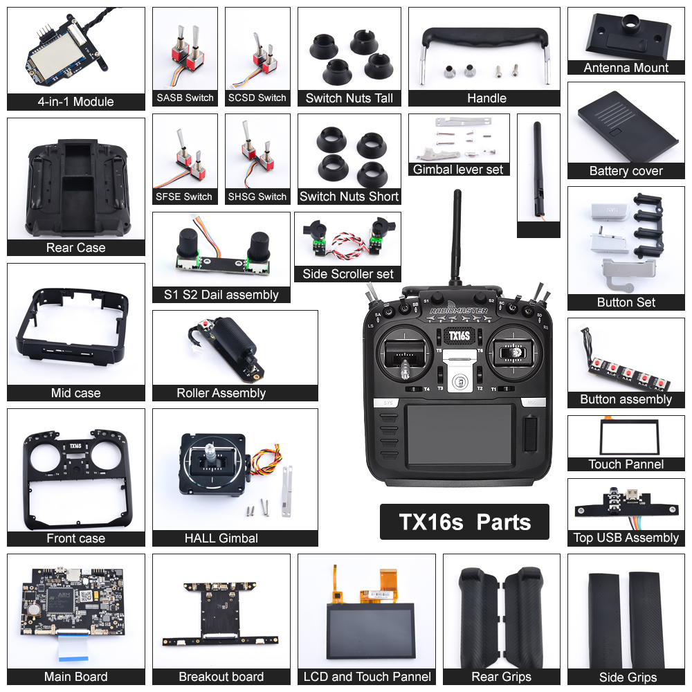 RadioMaster TX16S Parts