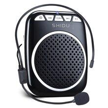Shidu音声アンプ有線マイクS308 5ワットポータブル充電式パーソナル超軽量ミニオーディオスピーカー教師のための