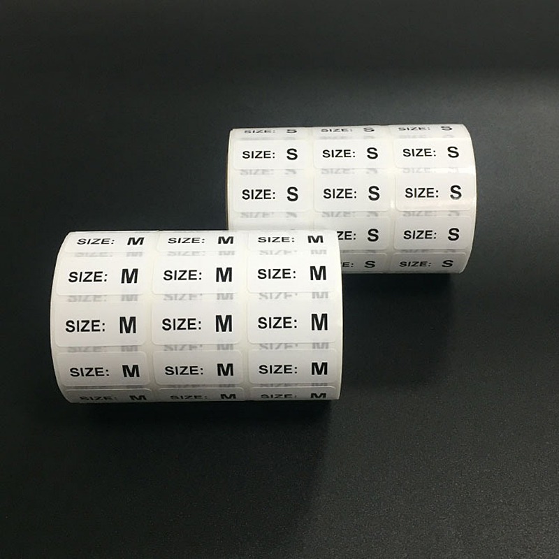 100PCS Size Sticker Labels For Clothing Size Adhesive Printed Tag For Clothes Tags Decoration Supplies