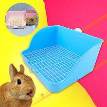 New Pet Cat Rabbit Toilet Mesh Square Potty Trainer Rat Hamster Corner Litter Box(China)