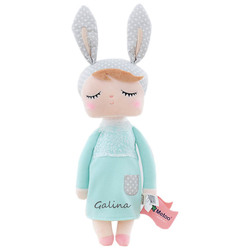 2020 personalizado metoo angela keppel boneca menina bebê animais de pelúcia dormindo coelho macio pelúcia brinquedos nome personalizado