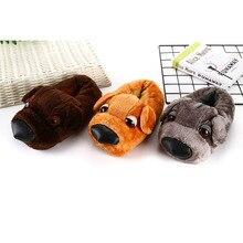 Shoes Slippers Animal Kigurumis Cosplay Household Cartoon Women Cute Dog Winter Plush