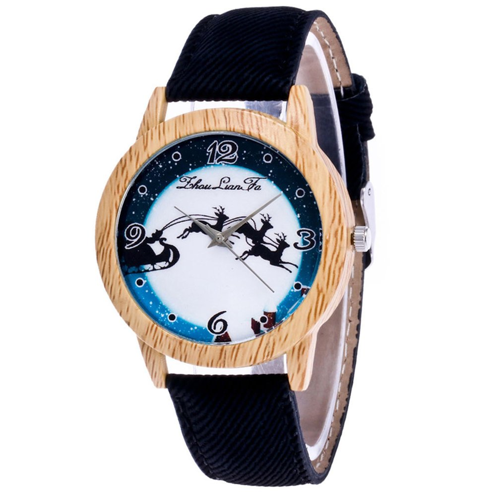 Women Watch Wooden Quartz Watch Leather Strap Fashion Design Pattern Modern Design Dial Wrist Watch Quartz Watch B1