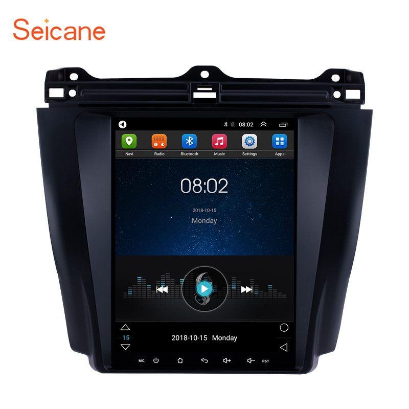 Seicane for 2003 <font><b>2004</b></font> 2005 2006 2007 <font><b>Honda</b></font> <font><b>Accord</b></font> 7 <font><b>Android</b></font> 9.1 9.7 inch Car GPS Navigation <font><b>Radio</b></font> Unit Player Mirror Link 1080P image