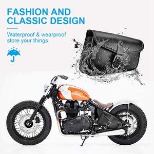 Image 5 - Motorrad Tasche PU Leder Sattel Sattel Schwinge Tasche Links Rechts Seite Werkzeug Taschen Für Sportster 1200 Für Honda CMX500 Wasserdicht