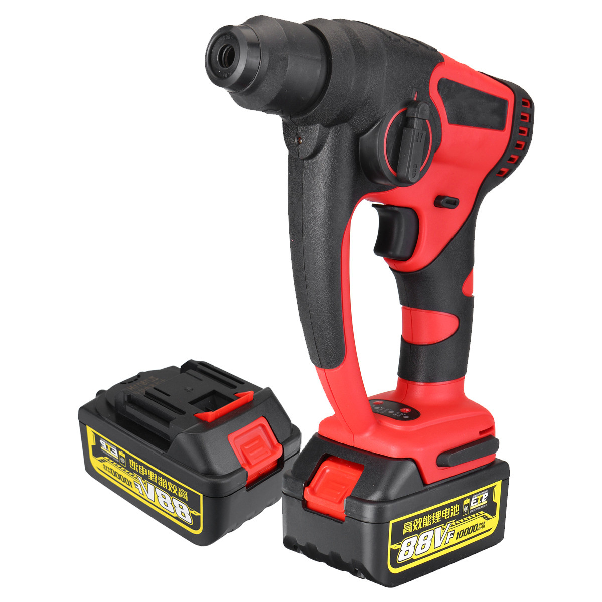 88v 800w 10000mAh Electric Hammer Brushless Cordless Lithium Ion Hammer Drill with 1 Battery Power Tools Power Impact Drill Electric Hammers     - title=