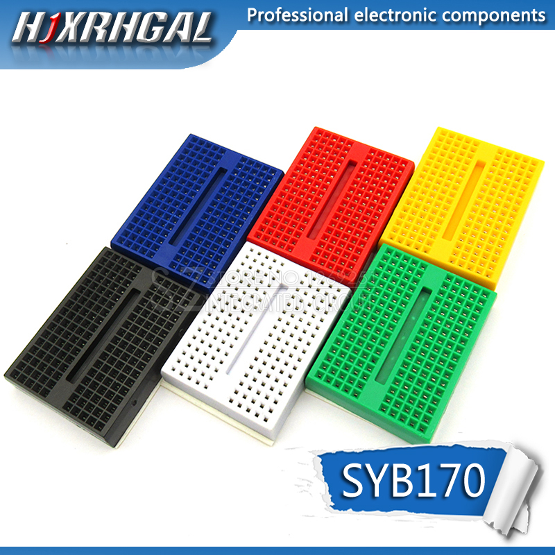 1PCS SYB-170 Mini Solderless Prototype Breadboard 170 Tie-points PCB Test Board Hjxrhgal