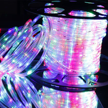 110V Neon Rope Light LED Strip 36LED/M Rainbow Tube Flexible Round Tow Wire RGB Waterproof Outdoor Decorative