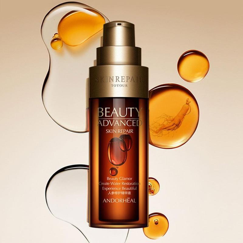 Anti Wrinkle Face Serum Hyaluronic Acid Ginseng Essence Vitaminis Collagen Pore