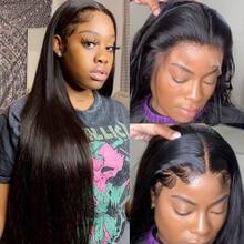 13*4 Короткие парики боб перуанские прямые 100% Remy волосы могут быть окрашенные кружевные передние человеческие волосы парики предварительно ...