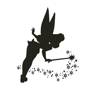 Car Sticker Waterproof Occlusion Scratch Funny Magic Wand Tinker Bell Star Car Motorcycle Accessories Bumper Vinyl Decal image