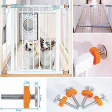 4Pcs/Pack Screw Bolt Nut Staircase Fence Fix Pets Baby Safety Sturdy Gate Bar Install Household Secure Tool Parts