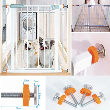 4Pcs/Pack Screw Bolt Nut Staircase Fence Fix Pets Baby Safety Sturdy Gate Bar Install Household Secure Tool Parts|Gates & Doorways|   -