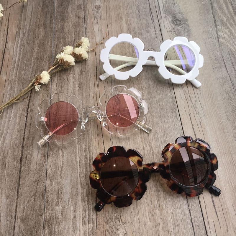 Винтажные детские солнцезащитные очки, детские солнцезащитные очки с круглыми цветами, детские солнцезащитные очки UV400, спортивные солнцез...